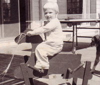 Christine Cole at age two
